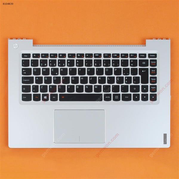LENOVO U430 U430P palmres with PO Backlit keyboard case Upper cover SILVER Cover N/A