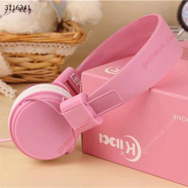 game headset,Folding head-mounted wire control microphone headset,pink Headset GAME HEADSET
