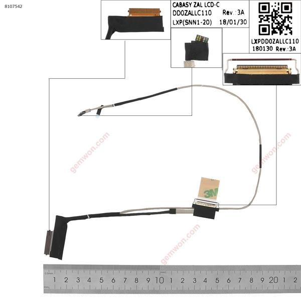Acer Chromebook 311 C733 C733T C733U C721 N18Q5   LCD/LED Cable DD0ZALLC110
