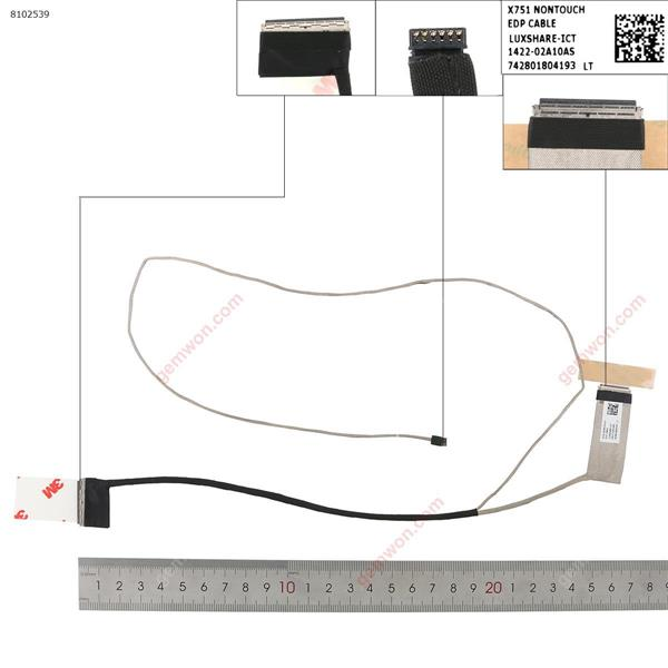 ASUS X751S F751L F751LJ f751m/md/s K751M 30pin Without Touch LCD/LED Cable 1422-02A10AS