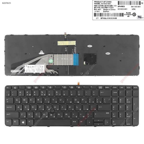 HP ProBook 450 G3 455 G3 470 G3 BLACK FRAME BLACK(Backlit  , With Point Stick For Win8)  RU 6037B0115301 Laptop Keyboard (A+)