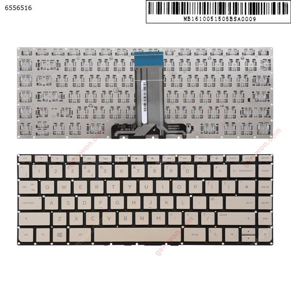 hp Pavilion 14-ab Gold   (Without FRAME,Win8)  UK N/A Laptop Keyboard (OEM-A)
