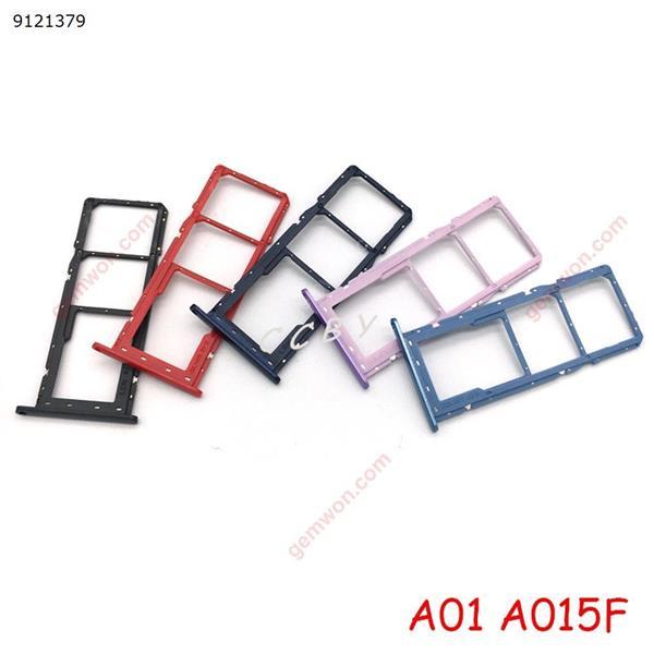 50PCS Sim Card Tray SD Reader Holder For Samsung Galaxy A01 A015F A11 A115F Dual SIM Card Tray Slot Holder