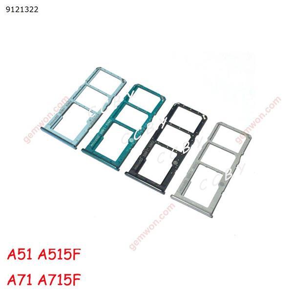 50pcs For Samsung Galaxy A51 A515 A515F A71 A715 A715F A5 A7 2020 Sim Card Reader Holder Dual Sim Card Tray Holder Slot Adapter