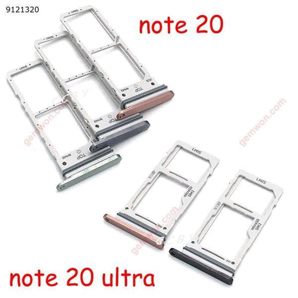 10pcs Sim Card Tray SD Reader Holder For Samsung Galaxy Note 20 / Note 20 Ultra SIM Card Tray Slot Holder Replacement Part