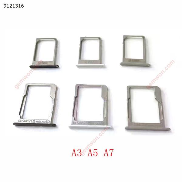 Sim Card Tray Holder Socket SD Slot For Samsung Galaxy A3 A5 A7 2015 Repalcement Part 1Set