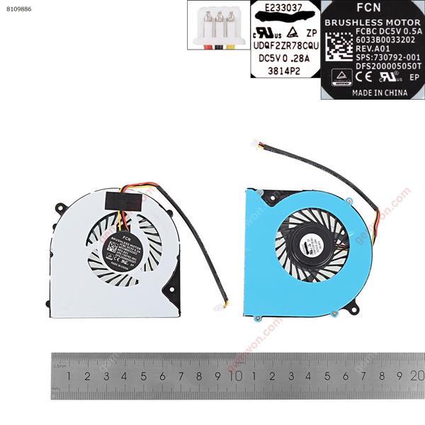 CLEVO 6-31-N5502-102 F57-D1 F57-D1C F57-D1T FH22 DFS551205WQ0T(High Copy) Laptop Fan N/A