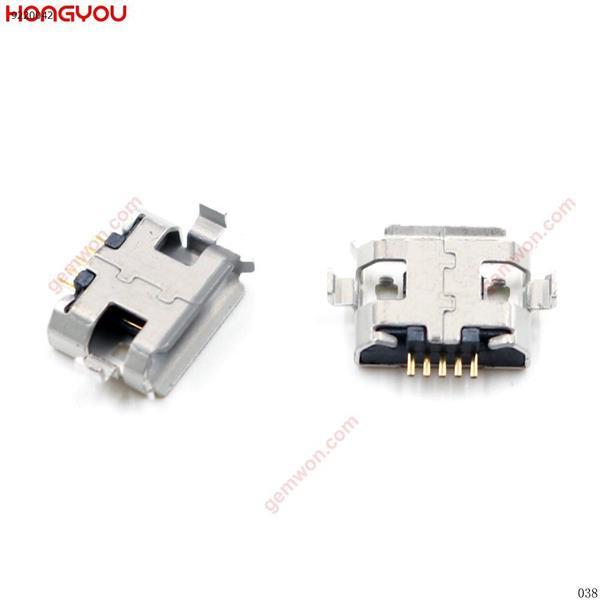 20 unids/lote Micro USB 5pin hembra toma de carga Puerto Jack boca rizada 2 pies para teléfono móvil PDA tableta conector de carga All