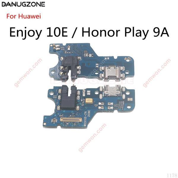 Puerto de carga USB, Conector de enchufe, placa de carga, Cable flexible FFor Huawei Enjoy 10E / Honor Play 9A All