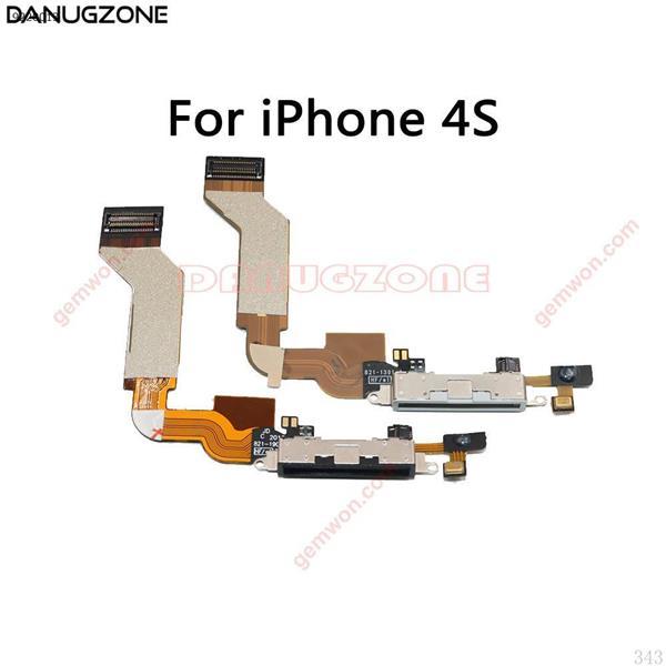Cable flexible del enchufe del zócalo del puerto de carga del conector de estación de carga USB para el iPhone 4S 4 4G All