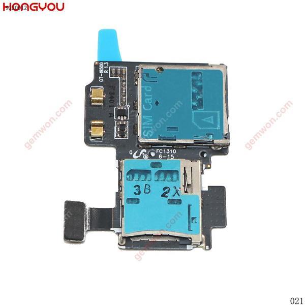 Soporte de conector para lector de tarjetas SIM, bandeja de ranura, Cable flexible de memoria para Samsung Galaxy S4 S IV I9500 All