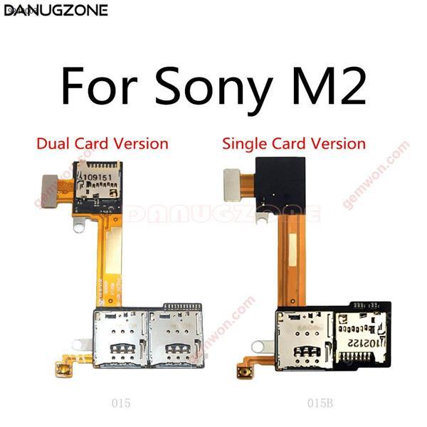 Soporte para tarjeta SIM + tarjeta TF ranura flexible Cable para Sony Xperia M2 Aqua S50H S50T D2302 D2303 D2305 D2306 Sim Flex Cable All