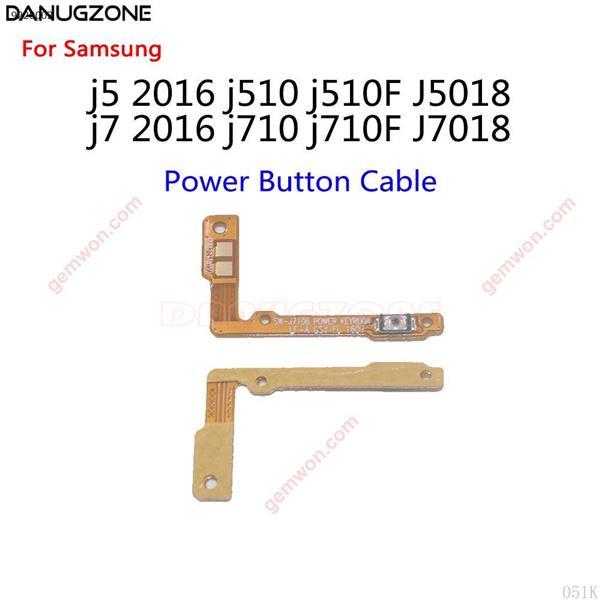 Botón de encendido para Samsung Galaxy J5 2016, J510, J510F, J5108, J7, J710, J710F, J7108, botón de volumen, Cable flexible de encendido/apagado silencioso 10 unidades All