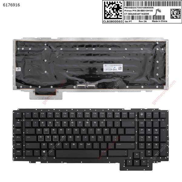 HP 17-AP  BLACK (Without FRAME ) PO 3B-BB515H100 BGUAE3AF7AG00R Laptop Keyboard (A+)