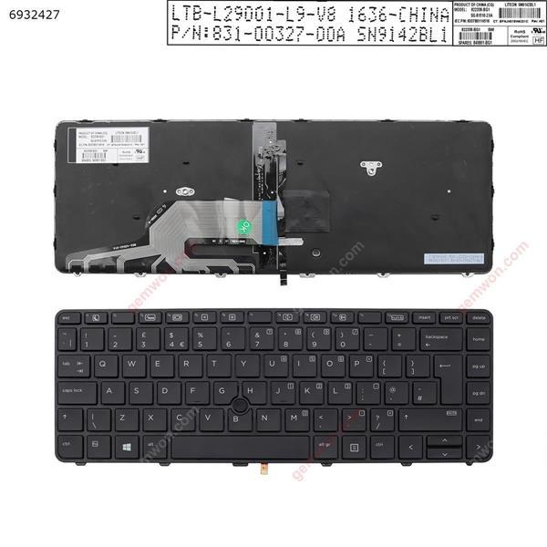 HP 430 g3 g4 440 g3 g4 446 g3 BLACK Frame BLACK(Backlit,With point,Win8)   UK SN9142BL1 852-43542-01A 831-00327-00A 6037B0114503 822338-031 SG-81510-2BA Laptop Keyboard (Original)