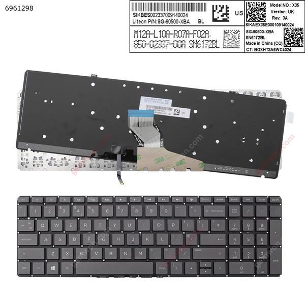 HP  Spectre x360 15-ch 15-ch000 GRAY (Backlit,Without FRAME,win8)  UK 852-44709-00A SN6172BL  SG-90500-XBA Laptop Keyboard (Original)