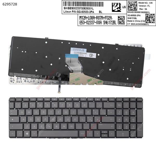 HP  Spectre x360 15-ch 15-ch000  BLACK (Backlit,Without FRAME,win8)  IT 852-44709-00A SN6172BL SG-90500-3P Laptop Keyboard (Original)