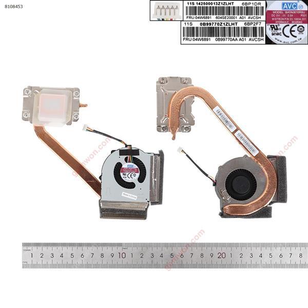 Lenovo ThinkPad L430 L530 04W6891(Integrated graphics Heatsink,Original) Laptop Fan 04W6891