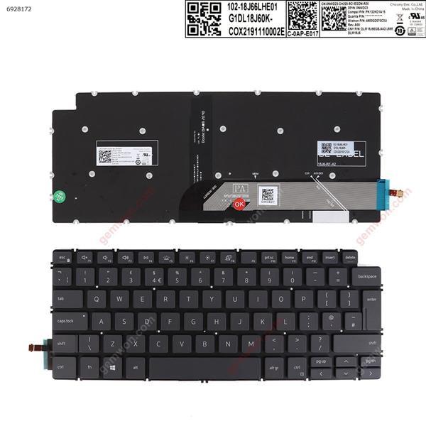 Dell  Inspiron 14-7490  13 5390 5391 7391  7491 5493 5498  GRAY   ( without FRAME , Backlit , win8  ) UK 102-18J66LHE01 G1DL18J60K-COX220102426BF SOE-NCB1877 Laptop Keyboard (OEM-A)