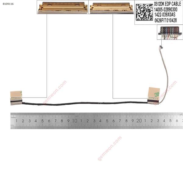 ASUS  X512DK X512DA x512D F512D   LCD/LED Cable 14005-02890300 1422-039x0AS