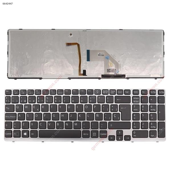SONY SVE15 GRAY FRAME BLACK(Backlit,For Win8) SP n/a Laptop Keyboard (OEM-A)
