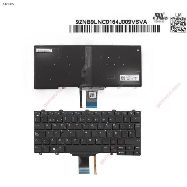 DELL Latitude E7250 BLACK (Backlit,For Win8) SP 0WVFRG NSK-LMABC PK1313O1B19 Laptop Keyboard (OEM-A)