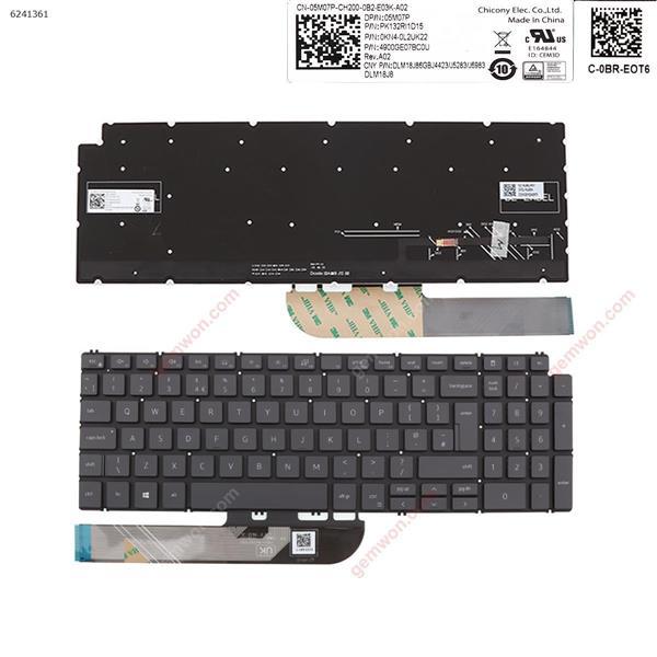 Dell  Inspiron  15 7590 5584 5590 5593 5594 5598   GRAY   ( without FRAME , Backlit , win8  ) UK PK132RI1D15  OKN4-0L2UK22  4900GE07BCOU Laptop Keyboard (Original)