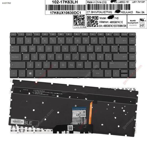 HP Pavilion 13-an0000 13-an0000ns BLACK (Backlit , Without Frame ,Win 8 )  LA L48502-161 17K63LAJ4425 Laptop Keyboard (OEM-A)