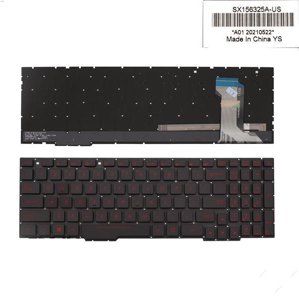 Asus  ROG gl753 gl753v gl753ve gl753vd BLACK (Without FRAME,Backlit, red Printing WIN8) US BY-8400 Laptop Keyboard (OEM-A)
