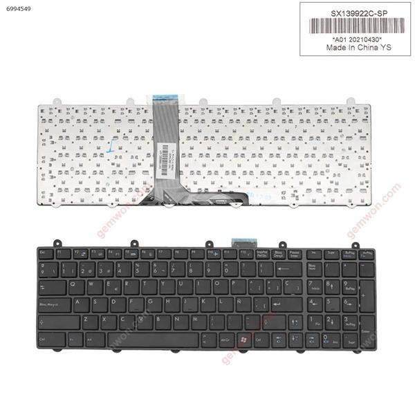 MSI GT60 GT70 GT780 GT783 GX780 BLACK FRAME BLACK ,Without backlit (WIN8)  SP SWN259A1        V139922AK        BY-8400      A01 20110430 Laptop Keyboard (OEM-B)