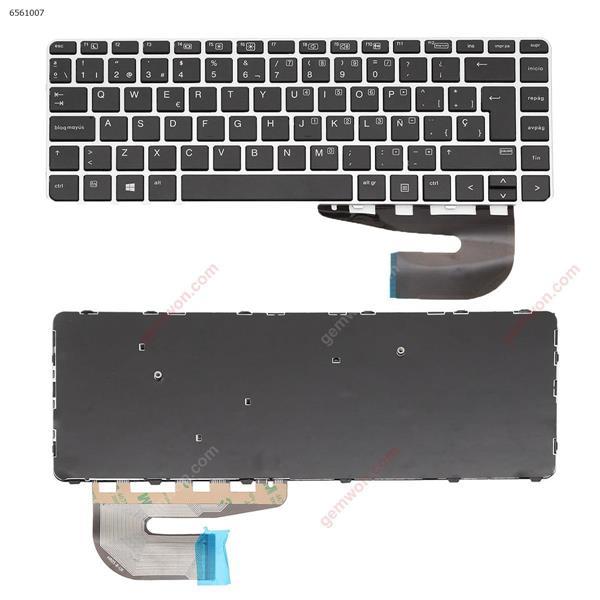 HP EliteBook 840 G3 Sliver FRAME BLACK (without  point, without   Backlit,Win8) SP HR05-B Laptop Keyboard (OEM-B)