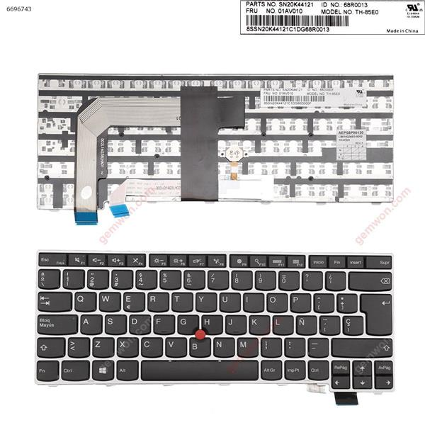 ThinkPad T460S Silver FRAME BLACK (without  Backlit,For Win8) SP SN20K44121           66D000F          01AV010           TH-85E0 Laptop Keyboard (OEM-A)
