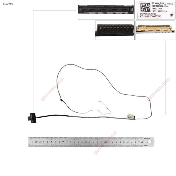 lenovo  Thinkpad L480 EL480 dc02c00au20 ORG LCD/LED Cable DC02C00AU20