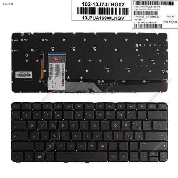 HP Spectre x360 13-4000 13-4100 13-4200 SILVER (Without FRAME ,Backlit,WIN8) IT n/a Laptop Keyboard (OEM-A)