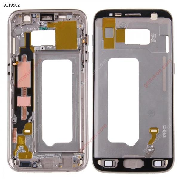 Front Housing LCD Frame Bezel Plate for Galaxy S7 / G930(Gold) Samsung Replacement Parts Galaxy S7 Parts