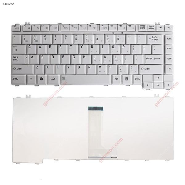 TOSHIBA A200 M200 GRAY US MP-06863 8037B0018002 MP-06863US-6981 PK130190400 NSK-TAB01 9J.N9082.B01 6037B0017502 Laptop Keyboard (OEM-B)