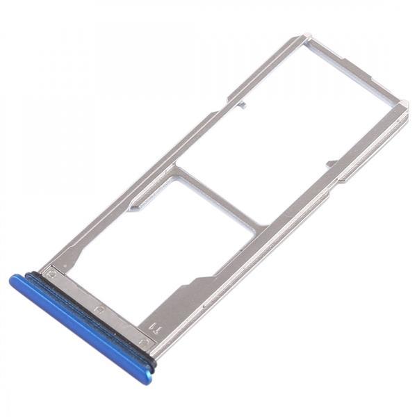 2 x SIM Card Tray + Micro SD Card Tray for Vivo Y75(Blue) Vivo Replacement Parts Vivo Y75