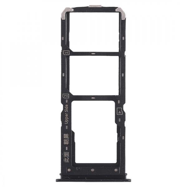 2 x SIM Card Tray + Micro SD Card Tray for Vivo Y71(Black) Vivo Replacement Parts Vivo Y71