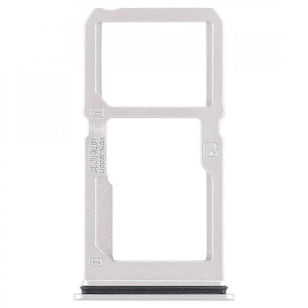 SIM Card Tray + SIM Card Tray / Micro SD Card Tray for Vivo X21i (Silver) Vivo Replacement Parts Vivo X21i