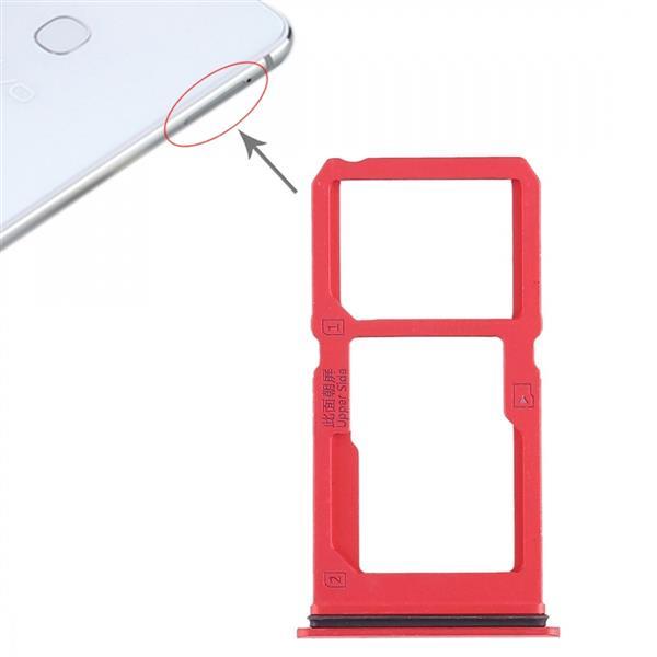 SIM Card Tray + SIM Card Tray / Micro SD Card Tray for Vivo X21i (Red) Vivo Replacement Parts Vivo X21i