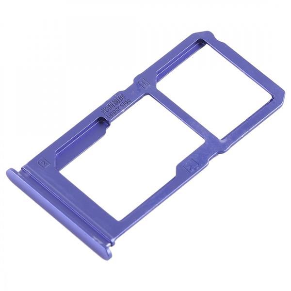 SIM Card Tray + SIM Card Tray / Micro SD Card Tray for Vivo X21i (Blue) Vivo Replacement Parts Vivo X21i