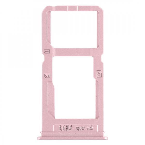 SIM Card Tray + SIM Card Tray / Micro SD Card Tray for Vivo X20 Plus (Rose Gold) Vivo Replacement Parts Vivo X20 Plus