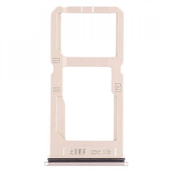 SIM Card Tray + SIM Card Tray / Micro SD Card Tray for Vivo X20 Plus (Gold) Vivo Replacement Parts Vivo X20 Plus