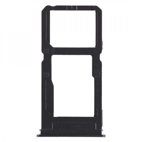SIM Card Tray + SIM Card Tray / Micro SD Card Tray for Vivo X20 Plus (Black) Vivo Replacement Parts Vivo X20 Plus