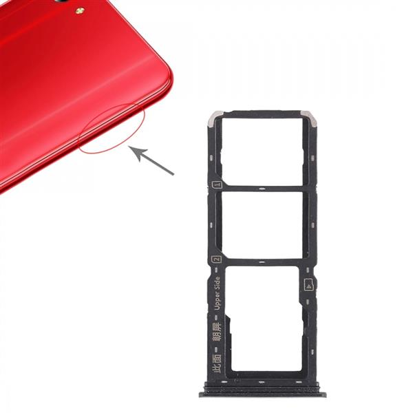 2 x SIM Card Tray + Micro SD Card Tray for Vivo Y83(Black) Vivo Replacement Parts Vivo Y83
