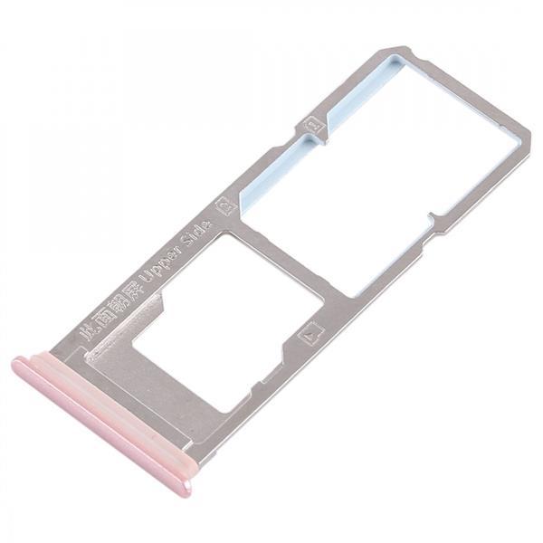 2 x SIM Card Tray + Micro SD Card Tray for Vivo Y79(Rose Gold) Vivo Replacement Parts Vivo Y79