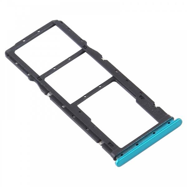 SIM Card Tray + SIM Card Tray + Micro SD Card Tray for Xiaomi Redmi 9 (Green) Xiaomi Replacement Parts Xiaomi Redmi 9