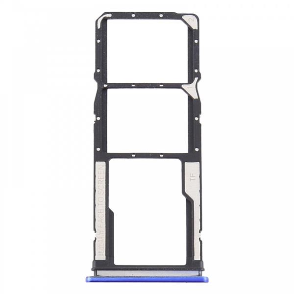 SIM Card Tray + SIM Card Tray + Micro SD Card Tray for Xiaomi Redmi 9 (Blue) Xiaomi Replacement Parts Xiaomi Redmi 9