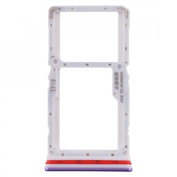SIM Card Tray + SIM / Micro SD Card Tray for Xiaomi Redmi K30 4G(Purple) Xiaomi Replacement Parts Xiaomi Redmi K30