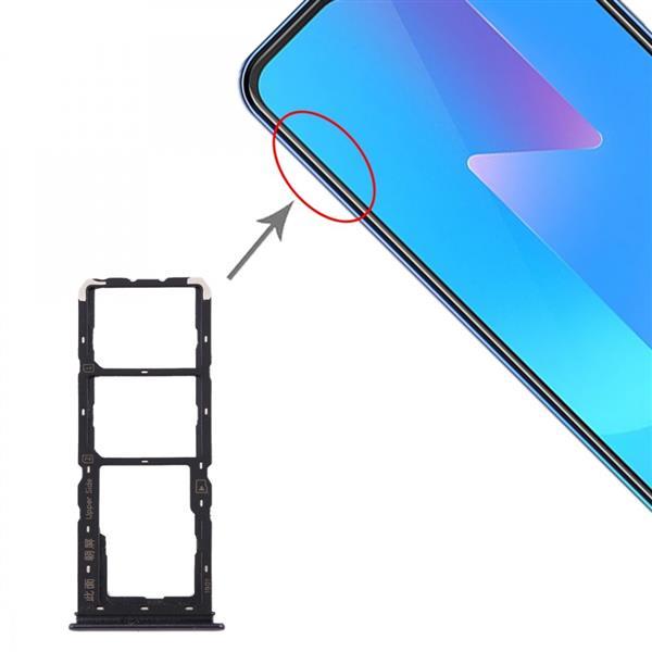 SIM Card Tray + SIM Card Tray + Micro SD Card Tray for Vivo U3x / U10(Black) Vivo Replacement Parts Vivo U3x
